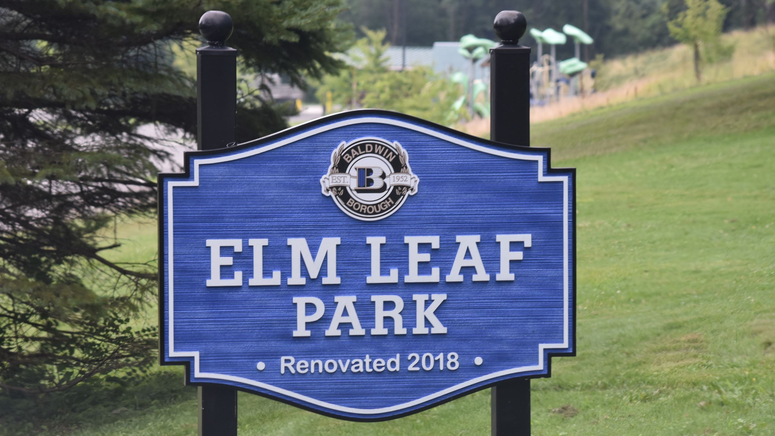 Elm Leaf Park Sign